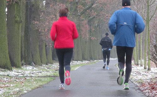 Läufer auf dem Rückweg von Rudow