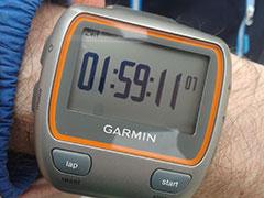 Laufuhr eines Unter-2-Stunden-Läufers