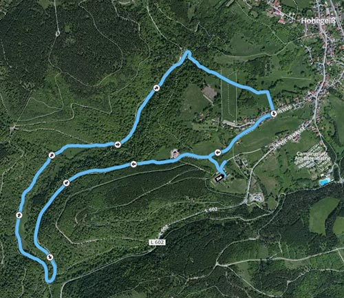 Strecke Freitagabend-Lauf Laufblogger-Camp 2015
