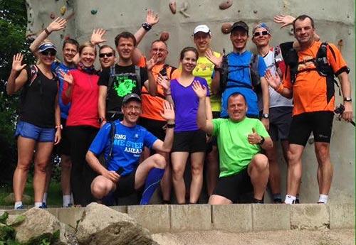 Gruppenbild Laufblogger-Camp 2015 vor den Läufen