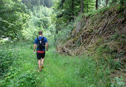 Läufer sucht den Weg