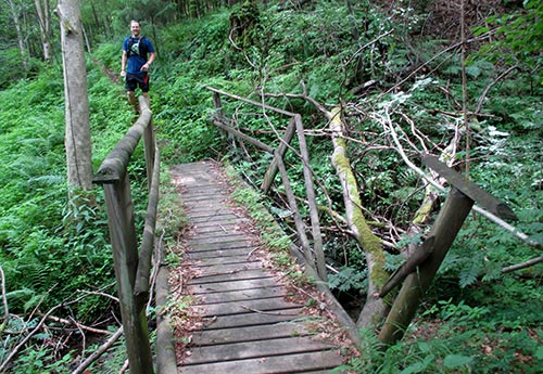 Verfallene Brücke
