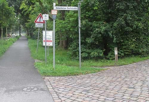 Anfang der Osterholzer Dorfstraße