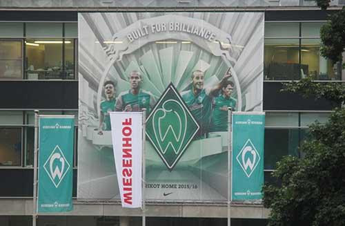 Banner am Weserstadion
