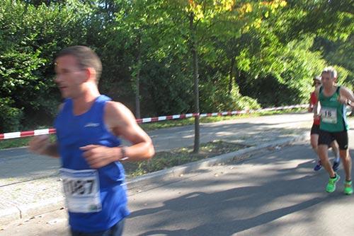 Läufer auf der Gegengeraden