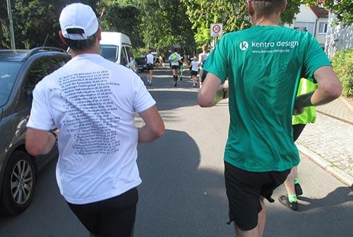 Läufer-Shirt mit vielen Laufterminen 2014