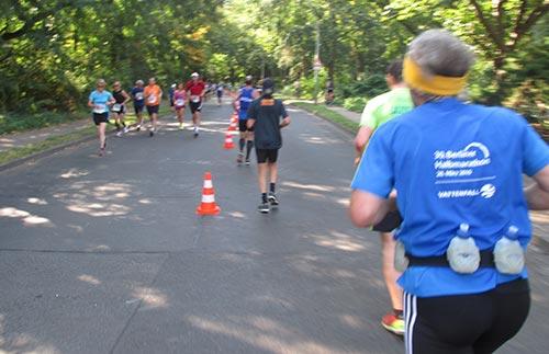 Läufer auf der Wendeschleife