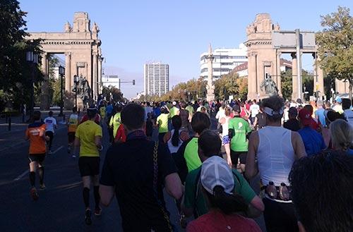 Marathonläufer auf Höhe Charlottenburger Tor