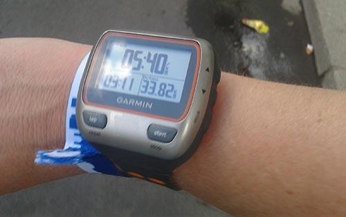 Laufuhr mit Durchschnitts-Pace 5:40 min/km