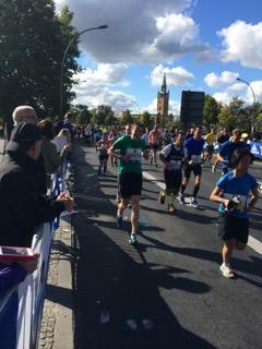 Läufer motiviert durch Zuschauer