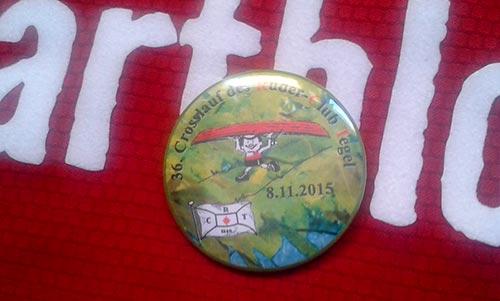 Ziel-Button 36. Crosslauf des Ruder-Club Tegel, Schmalzstullenlauf, 2015