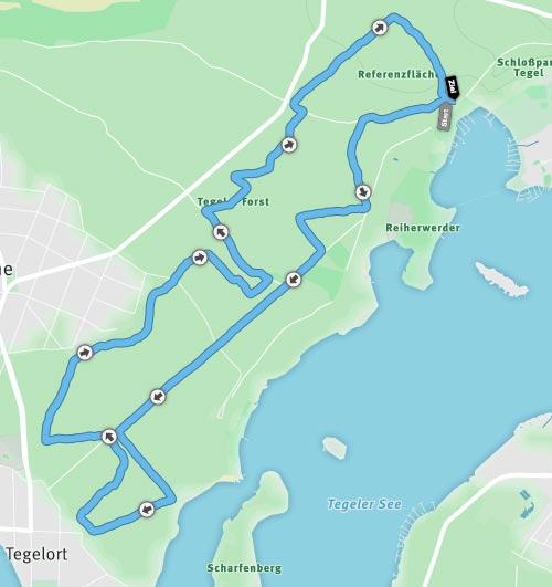 Strecke Crosslauf des RC Tegel, Schmalzstullenlauf