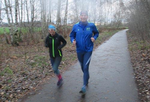 Langer Lauf bei Nieselregen und Wind