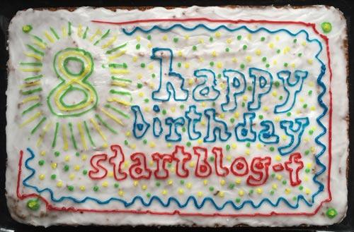 Geburtstagskuchen um 8. Geburtstag von startblog-f