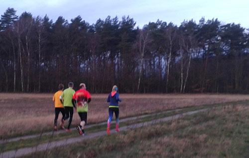 Läufergruppe kurz vor dem Hexenhäuschen