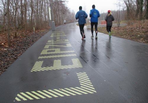 Läufer im Flaschenhals-Park