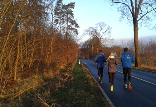 Laufen bei schönem Winterwetter
