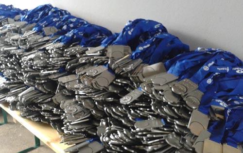 Medaillen für die Finisher des Big25 Berlin 2016