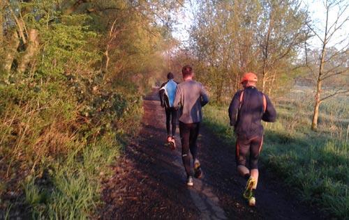 Läufer auf der Freitagsrunde