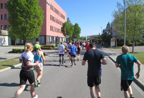 Läufer im Business Park Regensburg