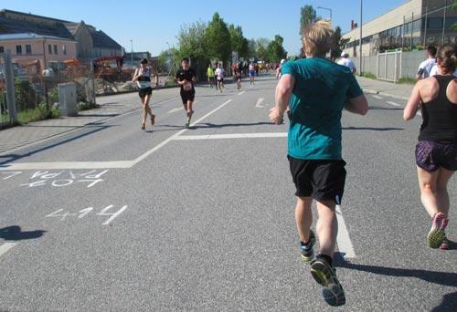 Läufer auf Pendelstrecke
