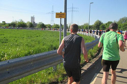 Läufer auf dem Continental Prüfkurs in Regensburg