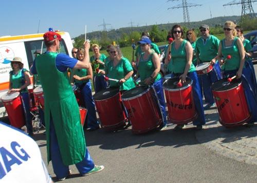 Trommelgruppe beim Regensburg Marathon