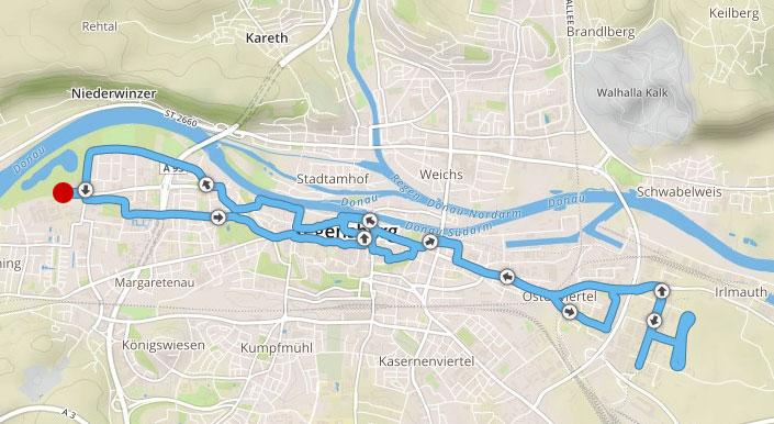 Strecke des Regensburg-Marathons