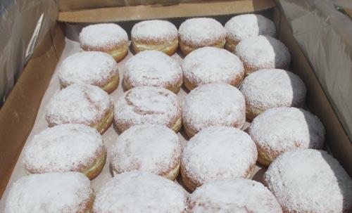 Pfannkuchen für die Läufer