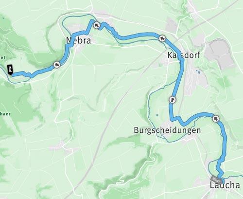 Himmelswegelauf-Halbmarathon 2016 – Strecke von Laucha an der Unstrut zur Arche Nebra