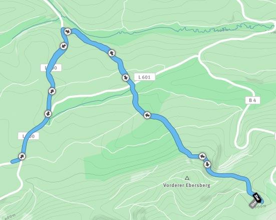 Die 10-km-Strecke im Harz bei Hohegeiß