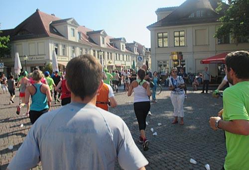 Läufer kurz vor der Brandenburger Straße