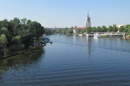 Läufer-Blick auf die Havel