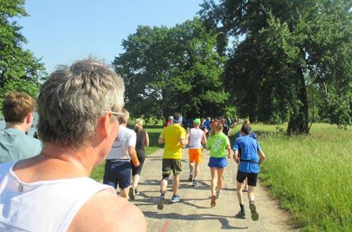 Läufer des Potsdamer Schlösserlaufs im Park Babelsberg