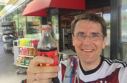 Eine verdiente Cola bei Kilometer 31