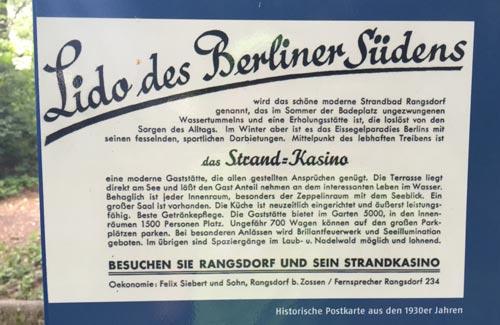 Rangsdorf, das Lido des Berliner Südens – Historische Postkarte aus den 1930er Jahren