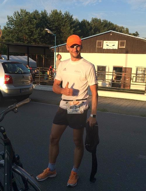 Schlussläufer kurz vor dem Start am Ruderclub Oberhavel