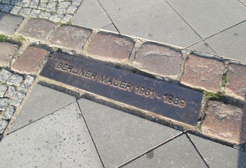Markierung Berliner Mauer 1961-1989