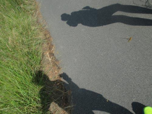 Schatten zweier Läufer
