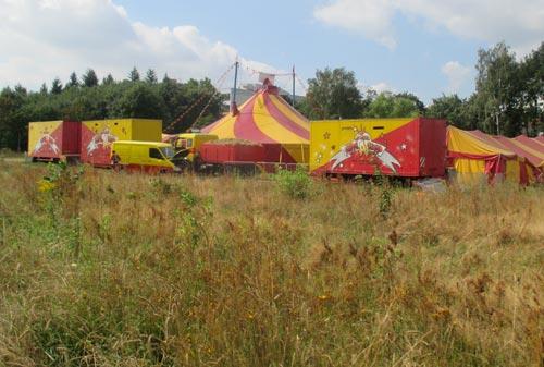 Ein Zirkus am Rande des Mauerwegs
