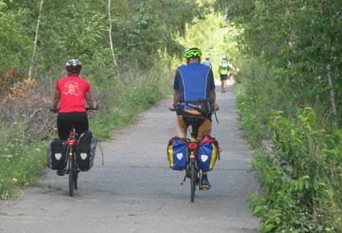 Mit dem Fahrrad voraus
