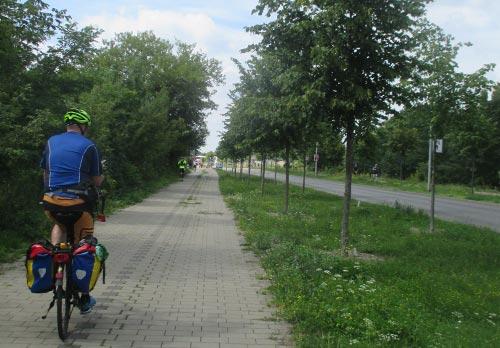 Die Zielgerade kurz vor dem Wechselpunkt Teltow