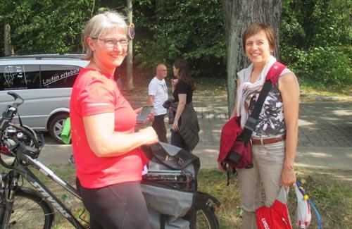 Mein Empfangskomitee in Teltow