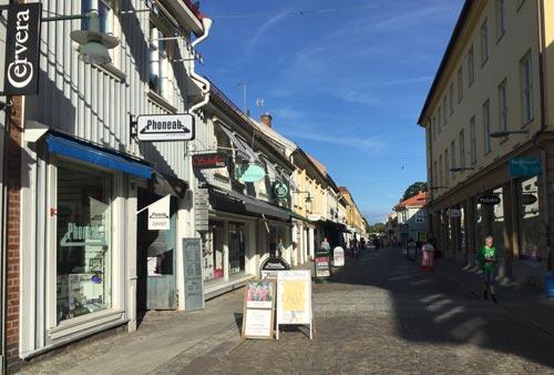 Einkaufsstraße in Alingsås