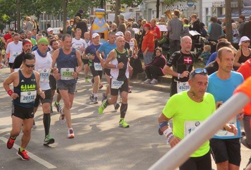 Marathonläufer an der Yorckstraße