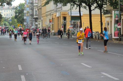 Letzte Läufer auf der Grunewaldstraße