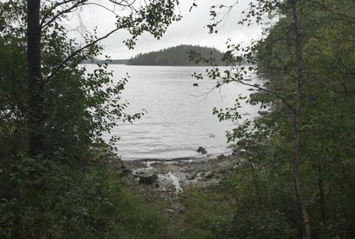 Blick auf den See Stora Färgen