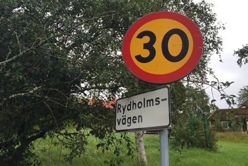 Schild Rydholmsvägen