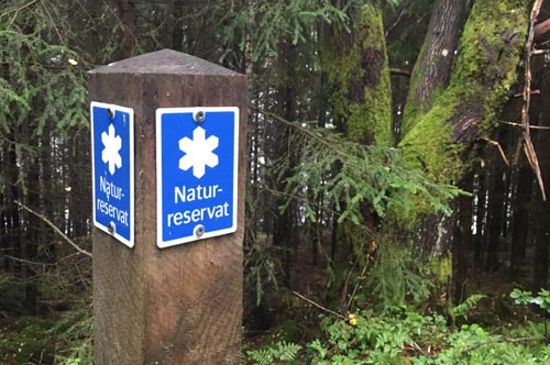 Schild Naturreservat