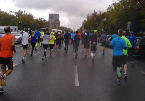 Läufer beim 10-km-Lauf